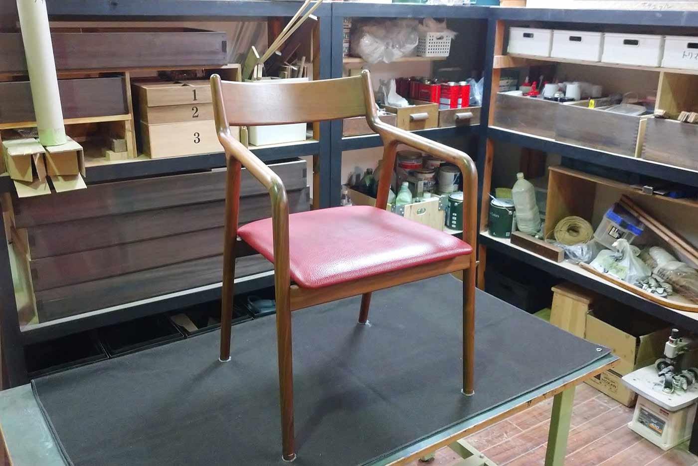 椅子 座面の張り替え 修理