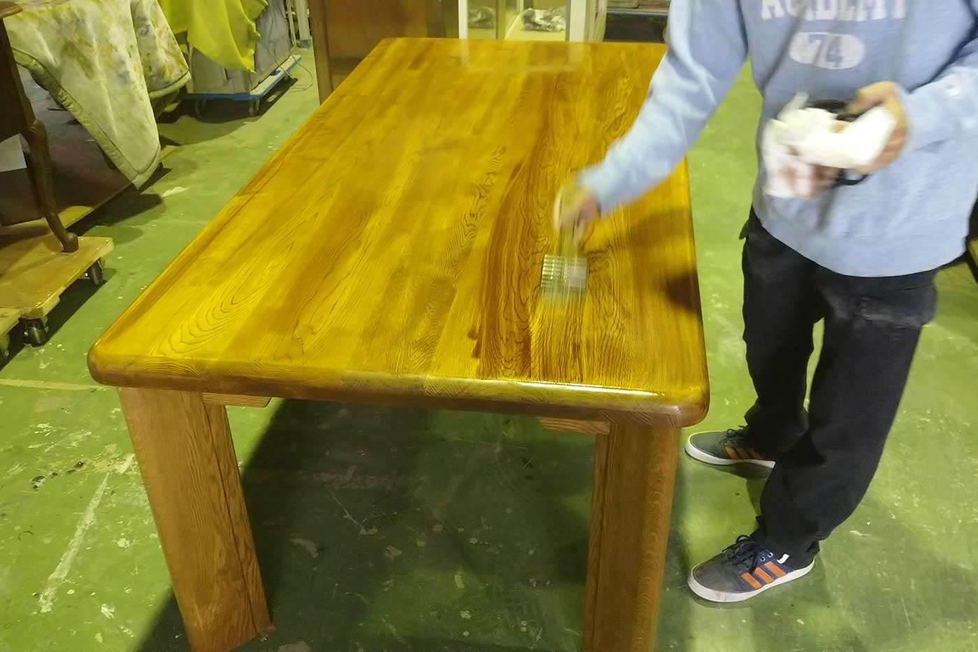 I様 テーブル 天板削り 修理