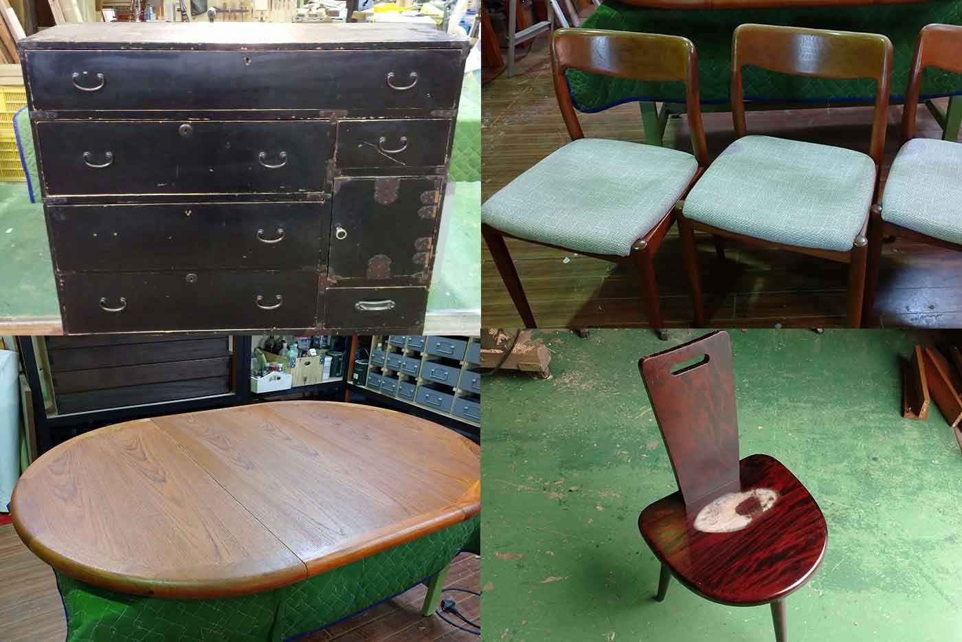 民芸椅子 たんす 椅子 テーブル 修理