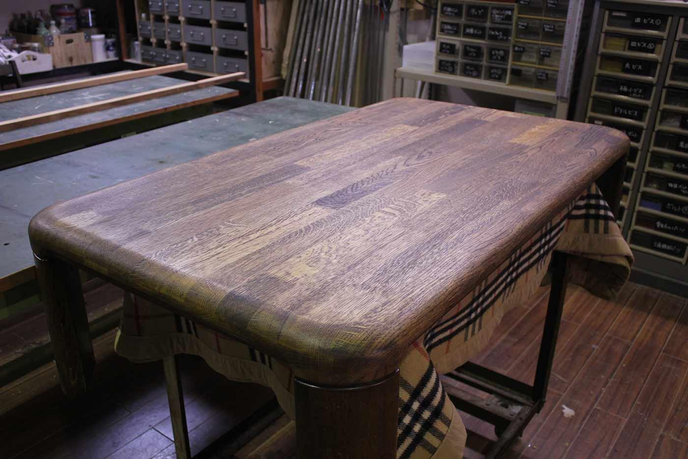 Y様 座卓テーブル 天板削り 修理